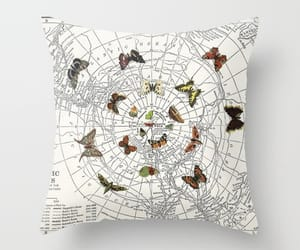 butterflies, cushion, and etsy image