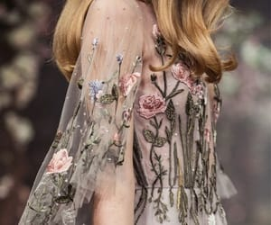flowers, dress, and aesthetic image