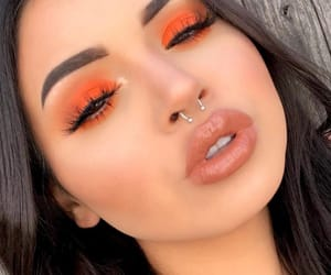 orange, beauty, and lips image