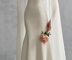 dress, bridal, and bride image
