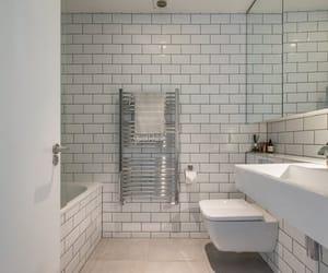 bathroom, house, and bathtub image