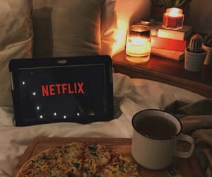 netflix, pizza, and food image