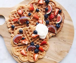 waffles, food, and FRUiTS image
