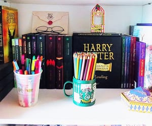 book, books, and hogwarts image