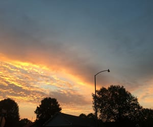 clouds, golden, and light pink image