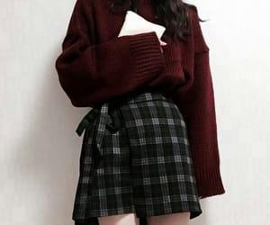 dark blue, dark red, and fashion image
