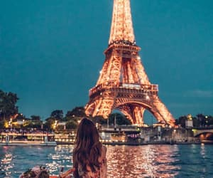 eiffel tower, girl, and goals image