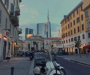 city, italy, and milano image
