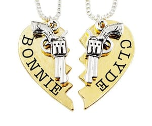 bonnie and clyde, charm, and guns image
