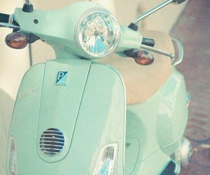 mint, pastel, and scooter image