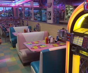 aesthetic, neon, and vintage image