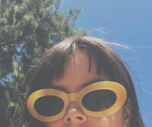 yellow, girl, and blue image