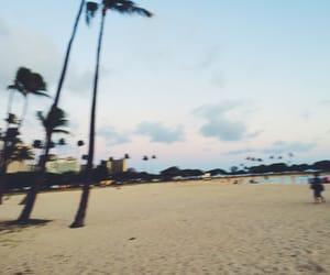 beach, Honolulu, and trees image