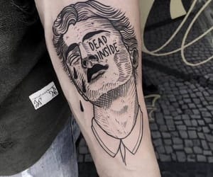tattoo, boy, and dead image