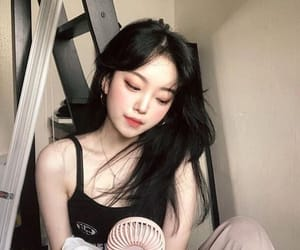 asian, chilling, and girl image