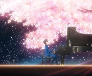 anime, piano, and your lie in april image