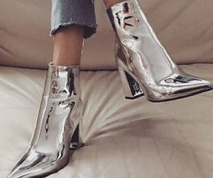 fashion, metallic, and heels image