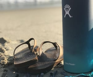 beach, relax, and hydroflask image