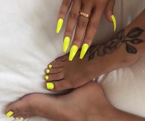 acrylics, girly inspiration, and nail polish image