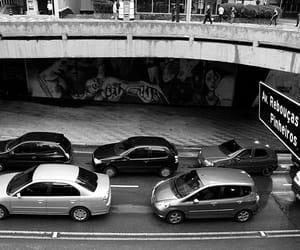 b&w, cars, and paulista image