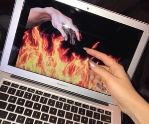 aesthetic, fire, and grunge image
