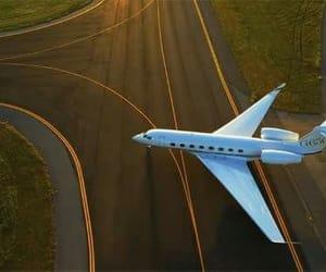 beautiful, photography, and plane image