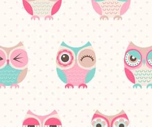 owl, background, and pastel image