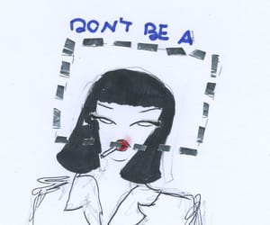 illustration, mia wallace, and pulp fiction image
