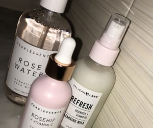 makeup, rose water, and skincare image