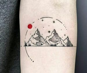 tattoo, fantasy, and mountain image