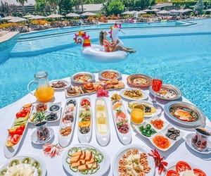 food, pool, and paradise image