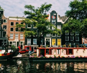 amsterdam, boat, and canal image