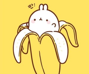 wallpaper, cute, and banana image