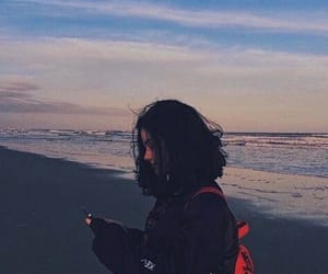 girl, beach, and aesthetic image