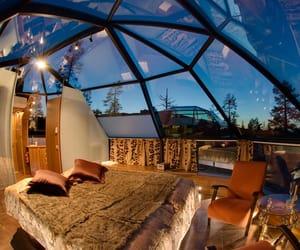 room, bedroom, and sky image