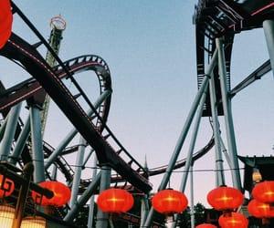 amusement, rollercoaster, and amusement park image