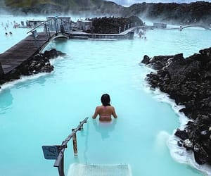 blue lagoon, iceland, and spa image