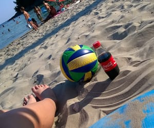 beautiful, volleyball, and coca cola image