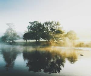 lake, nature, and sunlight image