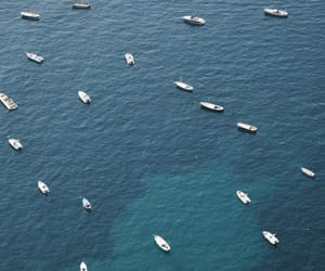 blue, boats, and ocean image