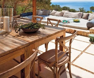 indoor outdoor living, mediterranean interior, and vacation home tour image