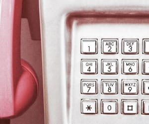 pay phone, phone, and pink image
