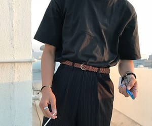 accessories, belt, and smoking image