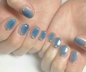 blue, nailart, and cute image