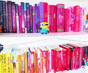 book, bookshelves, and read image