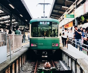 day, green, and train station image
