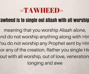 tawheed, islam, and the image