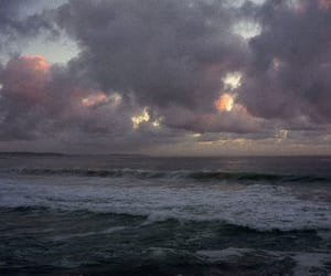 sky, sea, and clouds image