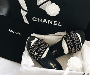 chain, chanel, and chanel shoes image