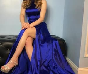 prom dress, prom season, and royal blue prom dress image